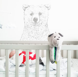Ourson Whisbear bruits blancs